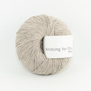 KFO Pure Silk-Yarn-Knitting for Olive-Powder-The Sated Sheep