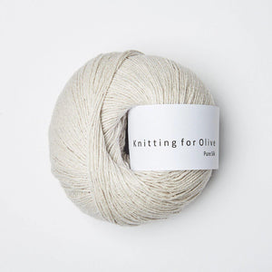 KFO Pure Silk-Yarn-Knitting for Olive-Putty-The Sated Sheep
