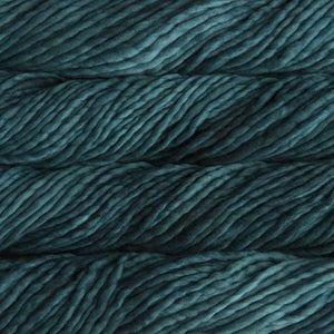 Rasta Super Bulky-Yarn-Malabrigo-412 Teal Feather-The Sated Sheep