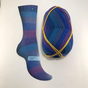 Regia Pairfect Sock-Yarn-Sirdar-01733 Blue-The Sated Sheep