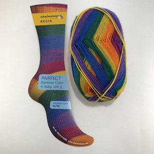 Regia Pairfect Sock-Yarn-Sirdar-01735 Rainbow-The Sated Sheep