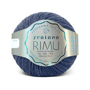 Rimu Dk-Yarn-Zealana-R15 Pukeko Blue-The Sated Sheep