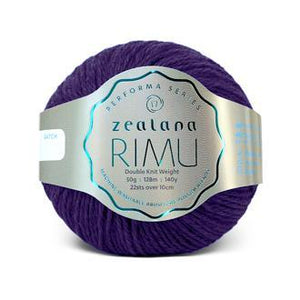 Rimu Dk-Yarn-Zealana-R21 Purple-The Sated Sheep