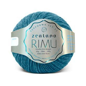 Rimu Dk-Yarn-Zealana-R23 Kakariki Blue-The Sated Sheep