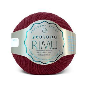 Rimu Dk-Yarn-Zealana-R25 Berry-The Sated Sheep