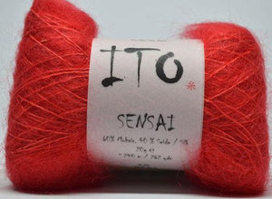 Sensai Lace-Yarn-Ito Yarns-309 Red-The Sated Sheep