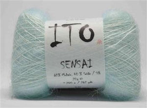 Sensai Lace-Yarn-Ito Yarns-324 Pale Blue-The Sated Sheep