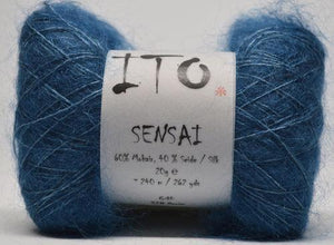 Sensai Lace-Yarn-Ito Yarns-328 Denim-The Sated Sheep