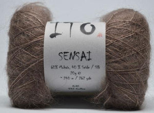 Sensai Lace-Yarn-Ito Yarns-332 Coffee-The Sated Sheep