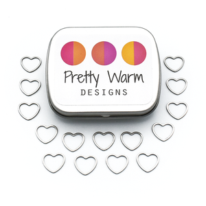 Small Heart Ring Stitch Markers-Notions-Pretty Warm Designs-The Sated Sheep