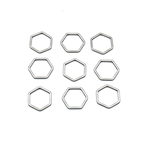 Small Hexagon Stitch Markers-Notions-Pretty Warm Designs-The Sated Sheep