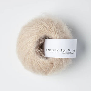 KFO Soft Silk Mohair Lace-Yarn-Knitting for Olive-Soft Rose-The Sated Sheep