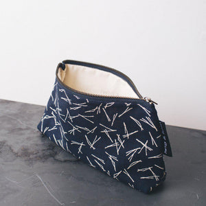 Twig and Horn Medium Notions Pouch-Bags-Quince and Co-blue-The Sated Sheep