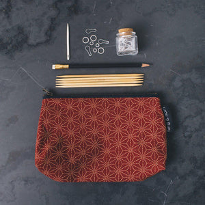 Twig and Horn Medium Notions Pouch-Bags-Quince and Co-red-The Sated Sheep