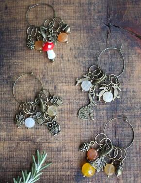 Woodland Stitch Markers-Notions-NNK Press-The Sated Sheep