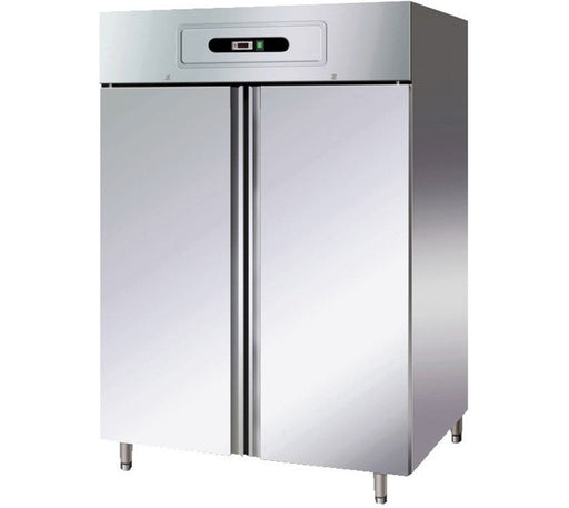 Forcar GN1410BT Upright Double Door Freezer GN 2/1 - Stainless Steel - Integral Condenser