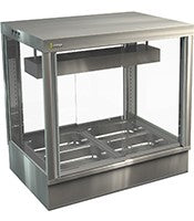 COSSIGA STG Countertop Tower Bain Marie Display Cabinet
