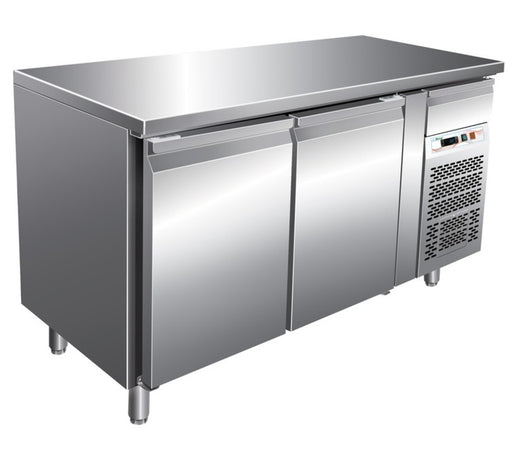 Forcar GN2100BT - 2 Door S/S Counter Freezer GN 1/1
