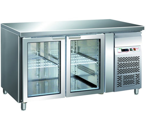 Forcar GN21000TNG - 2 Glass Door Counter Chiler GN 1/1