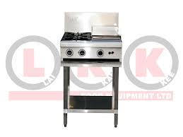 LKK Combination 2 Open Burners & 300mm Right Griddle Plate