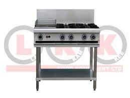 LKK Combination 4 Open Burners & 300mm Right Griddle Plate