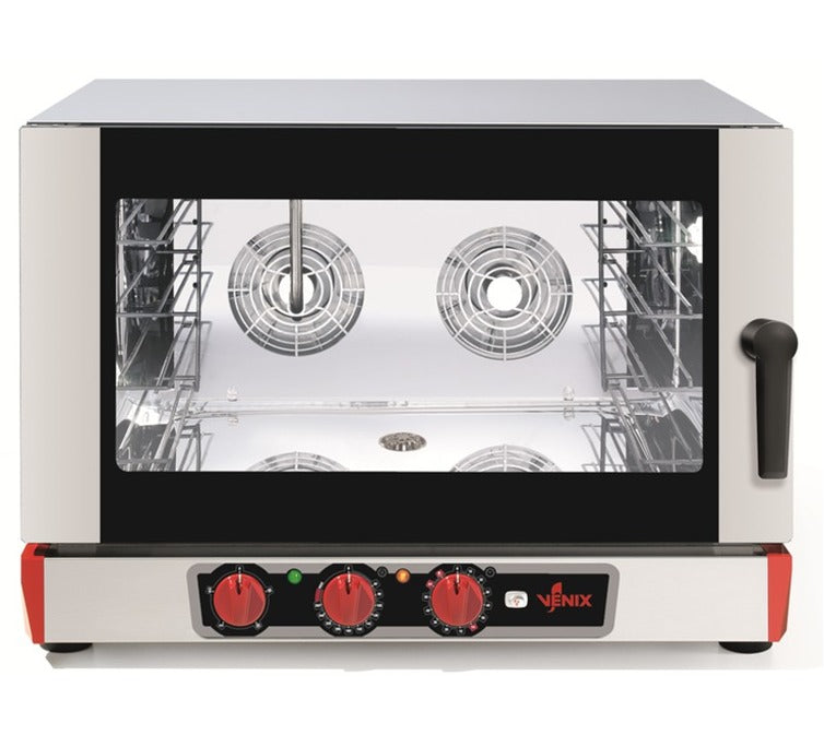 VENIX BURANO B04MV.16  - Electric Convection Oven - Manual Control & Steam Function - 4 600x400