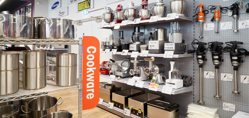 Hospitality Supply showroom showing Cookware
