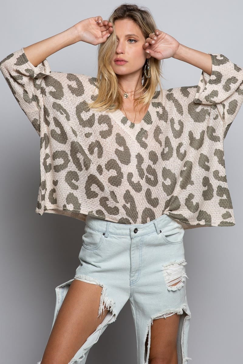 Relaxed Fit Leopard Print Top