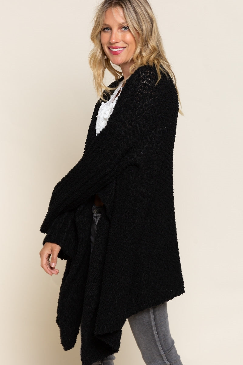 Cozy Waterfall Soft Popcorn Cardigan