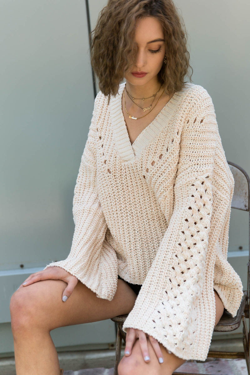 Frost Pink Parisian Style Sweater-Honeyed Boutique