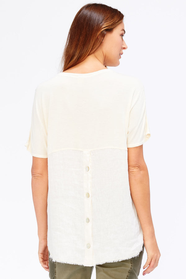 Ciara Top - Light Linen