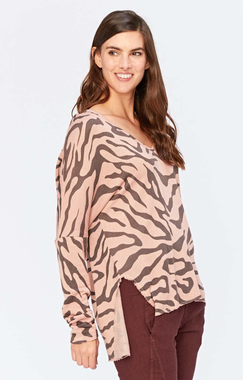 Warrick Printed V-Neck Pullover