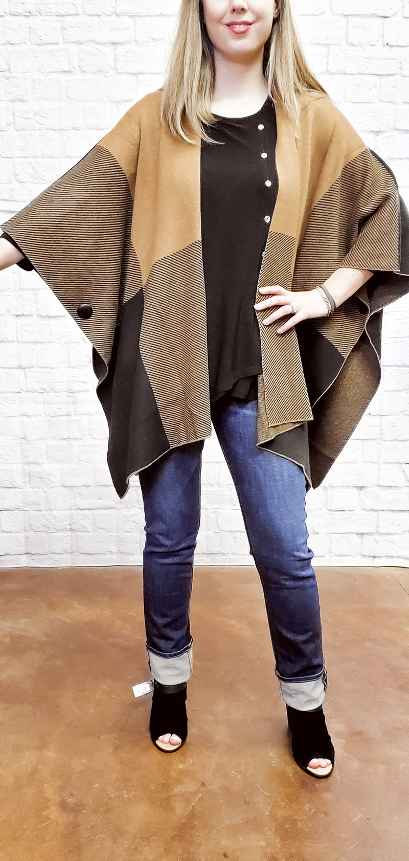 Earth Tone Poncho
