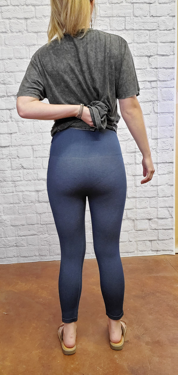 Cropped High Waisted Jeggings