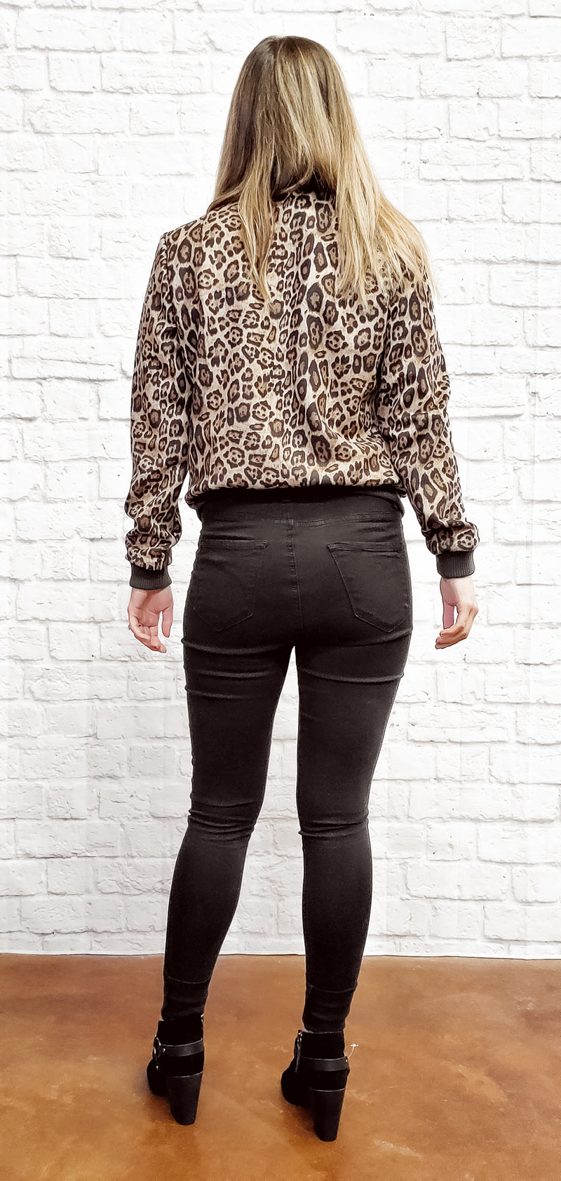 Leopard Print Jacket-Honeyed Boutique
