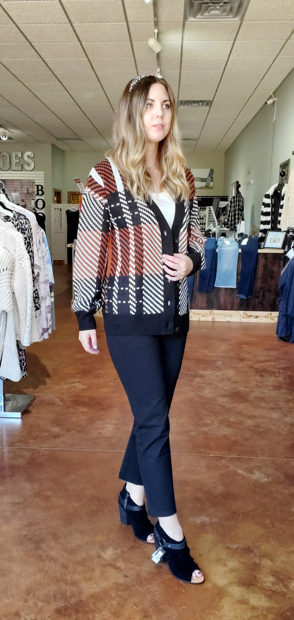 Plaid You Made it Cardigan-Honeyed Boutique