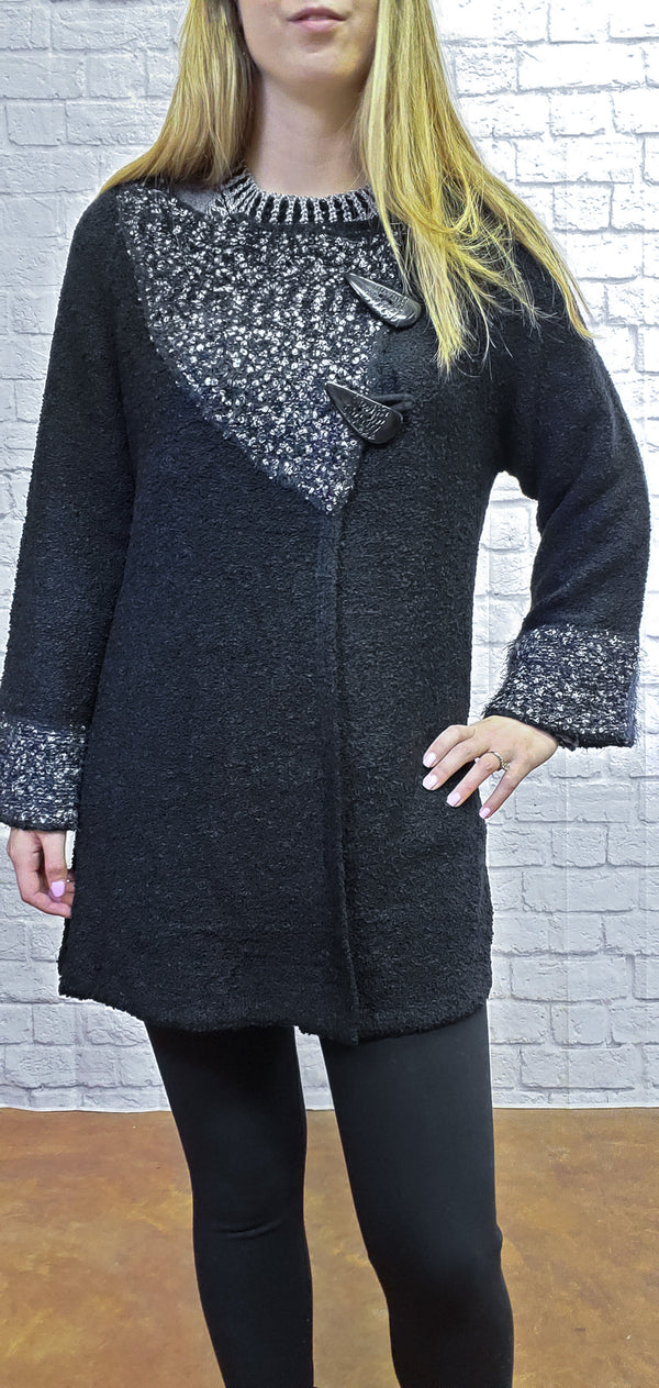 Side Clasp Poncho Jacket