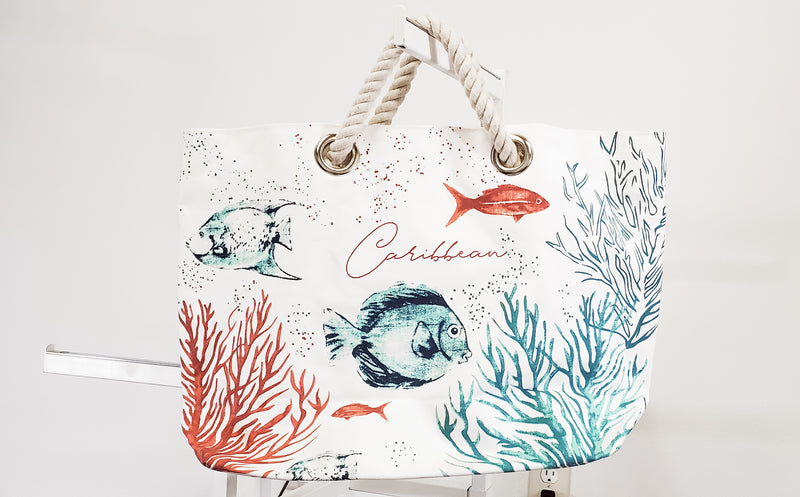 Caribbean Beach Tote-Honeyed Boutique