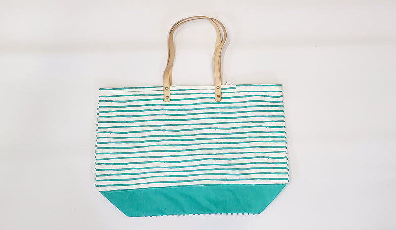 Mint Beach Tote-Honeyed Boutique