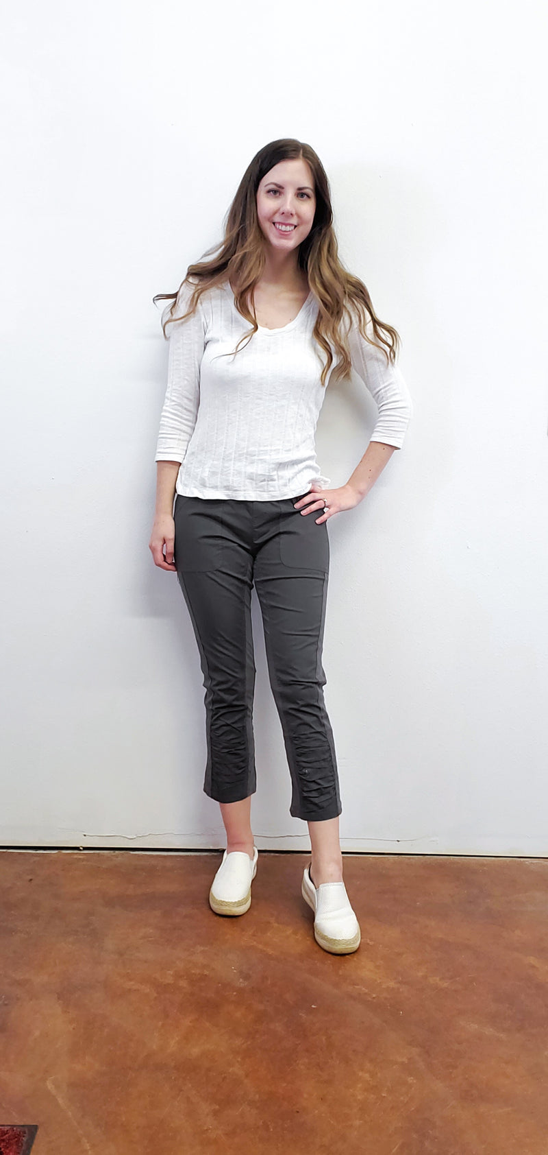 Saoirse Crop Stretch Poplin Pants-Honeyed Boutique
