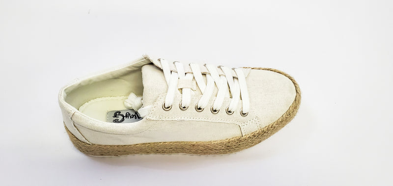 Beach Off White Canvas Sneakers