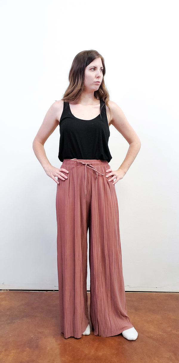 Georgie Pleated Wide Leg Pants