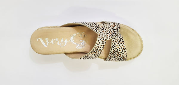 Elvina Leopard Pattern Slip On Sandal