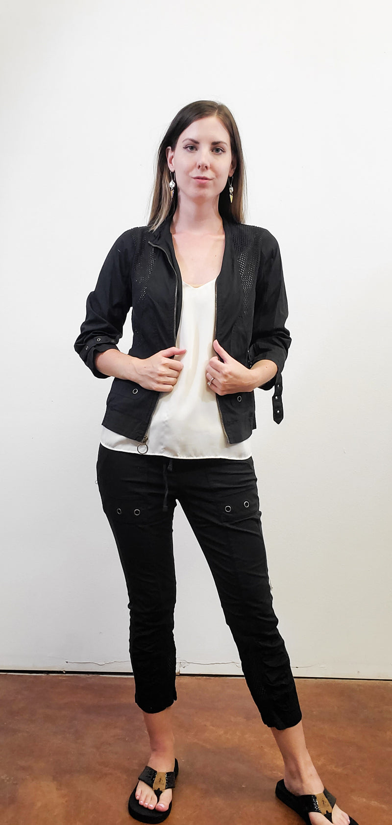 Sophia Black Mesh Jacket