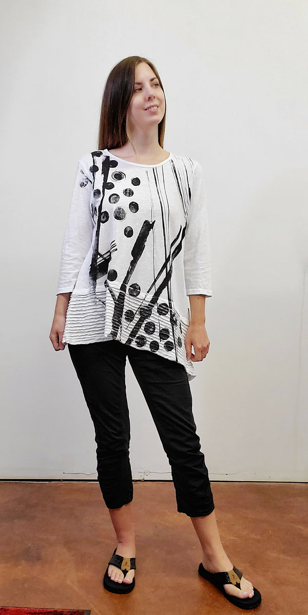 Geometric Bimba Mineral Cotton Tunic