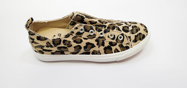 Leopard Canvas Slip On Tennis Shoe
