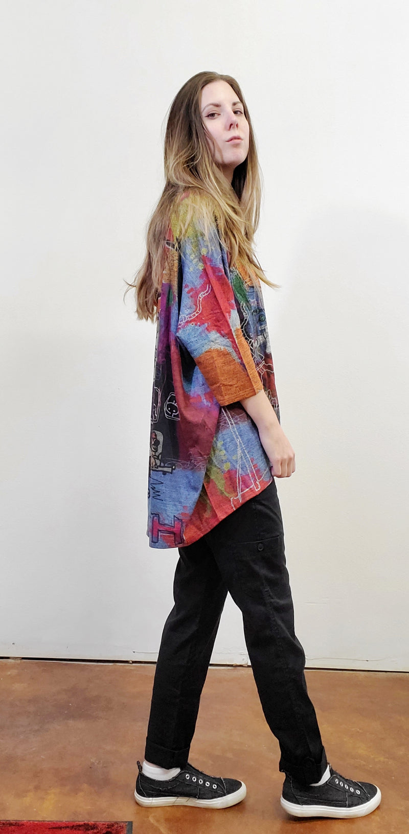 One Size Animal Artistic Dolman Pullover