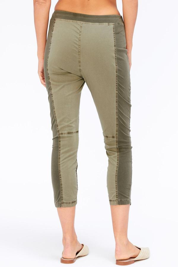 Hattie Crop Pant - Forest Green