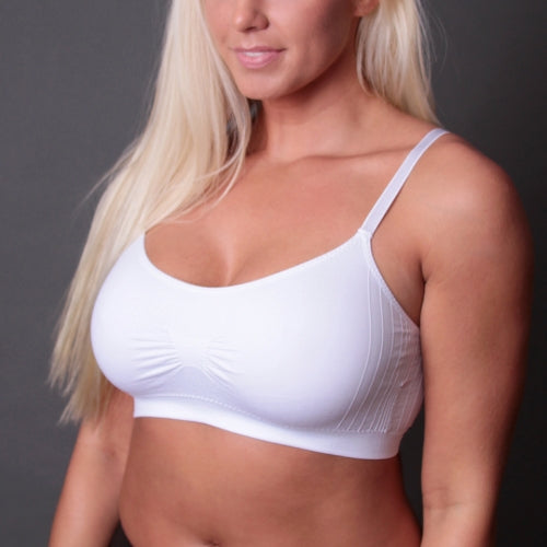 Scoopneck Seamless T-Shirt Bra - Full Size-Bra-Honeyed Boutique