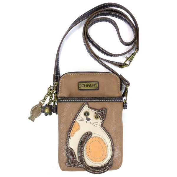 Brown Cat Crossbody Purse